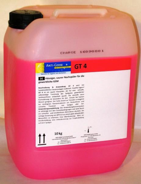 Klarspüler GT 4 saurer Klarspüler für gewerbliche Spülmaschinen