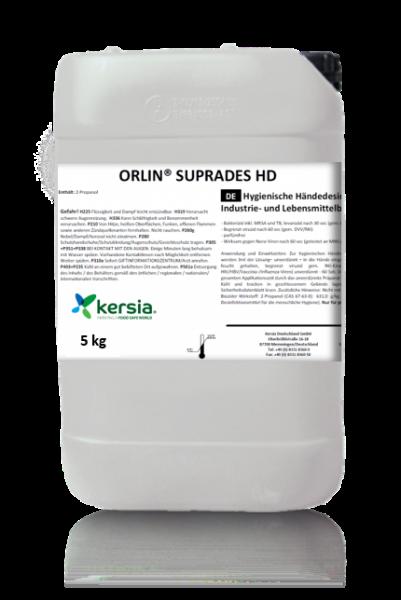 ORLIN® SUPRADES HD hochwertige Handdesinfektion von DGHM u. VAH, RKI empfohlen u. Covid19 Info