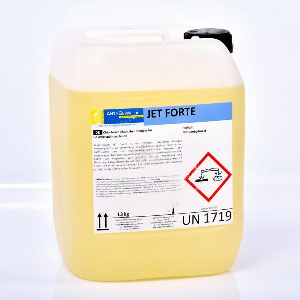 Gläser und Geschirreiniger Jet Forte Phosphat und chlorfrei für gewerbliche Spülmaschine