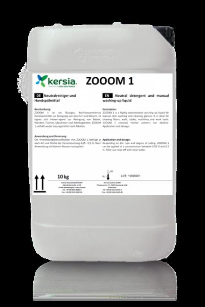 Zooom 1 Neutralreiniger und Handspülmittel ohne Lösungsmittel und Alkalien