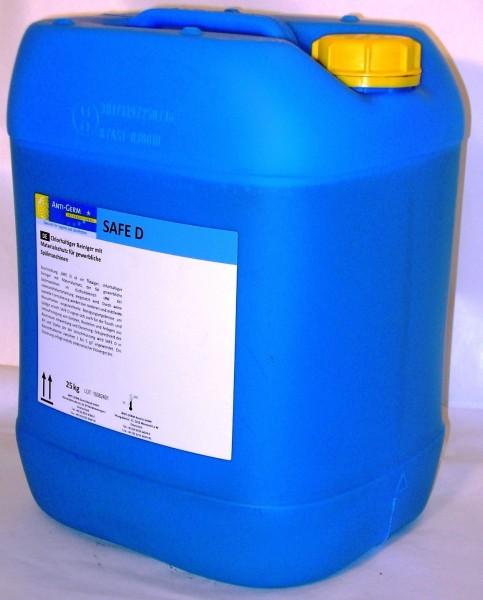 Safe D Chlorhaltiger Reiniger mit Materialschutz auch für Umlaufreinigung